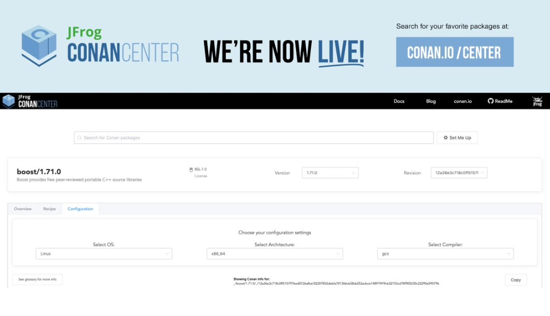 New ConanCenter Improves Search and Discovery